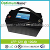 High performance LiFePo4 12V 100Ah battery pack for back-up energy storage
