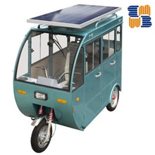 New model solar panel pessenger electric tricycle for sale
