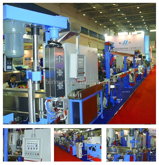 High-speed Plastic Extruder Line with Automatic Coiling & Wrapping Machine electric wire extruding production