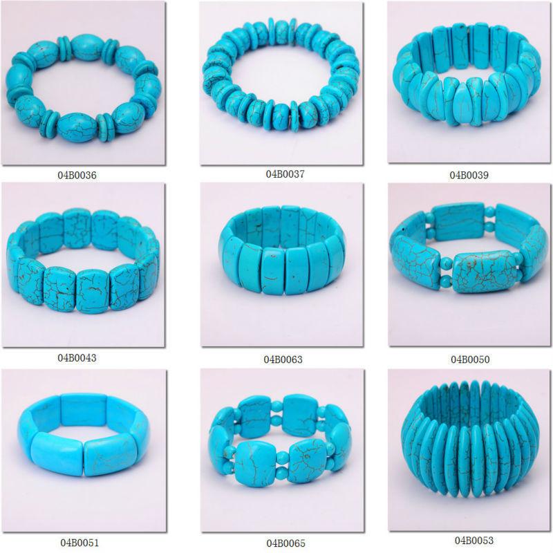 wholesale cheap semi precious turquoise jewelry