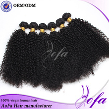 OEM manufacture chinese kinky curly hair extensions