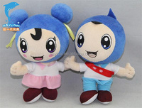 high quality plush baby doll toys with blue clothing