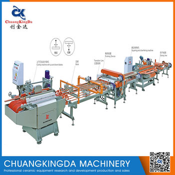 SKQ-800 (4+1) Automatic Continuous Tiles Mrble Cutting Machine With Up And Down Blades