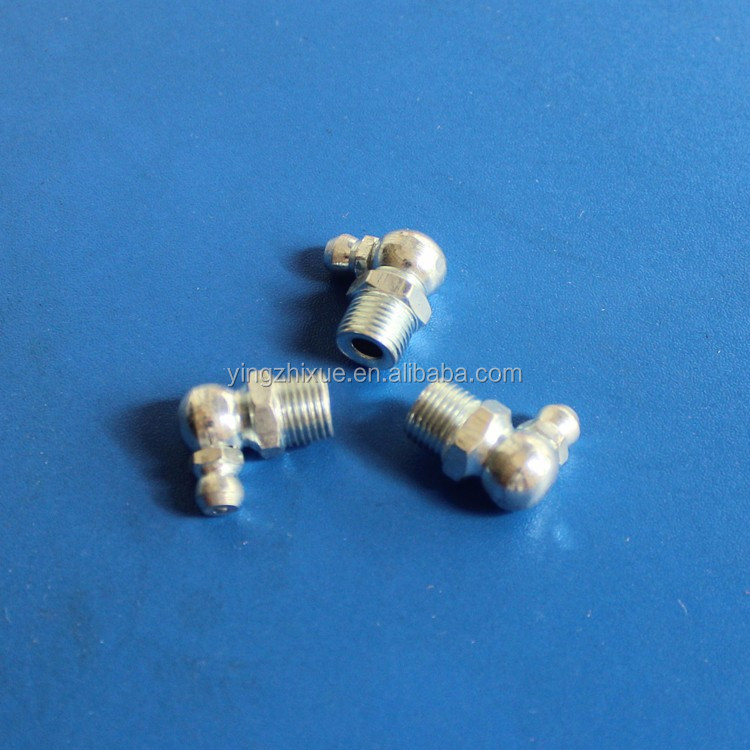 carbon steel grease nipples 1/4-28 90degree for air grease gun