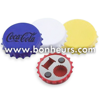 New Novelty Toy Colorful Cap Shaped Fridge Magnet Bottle Opener