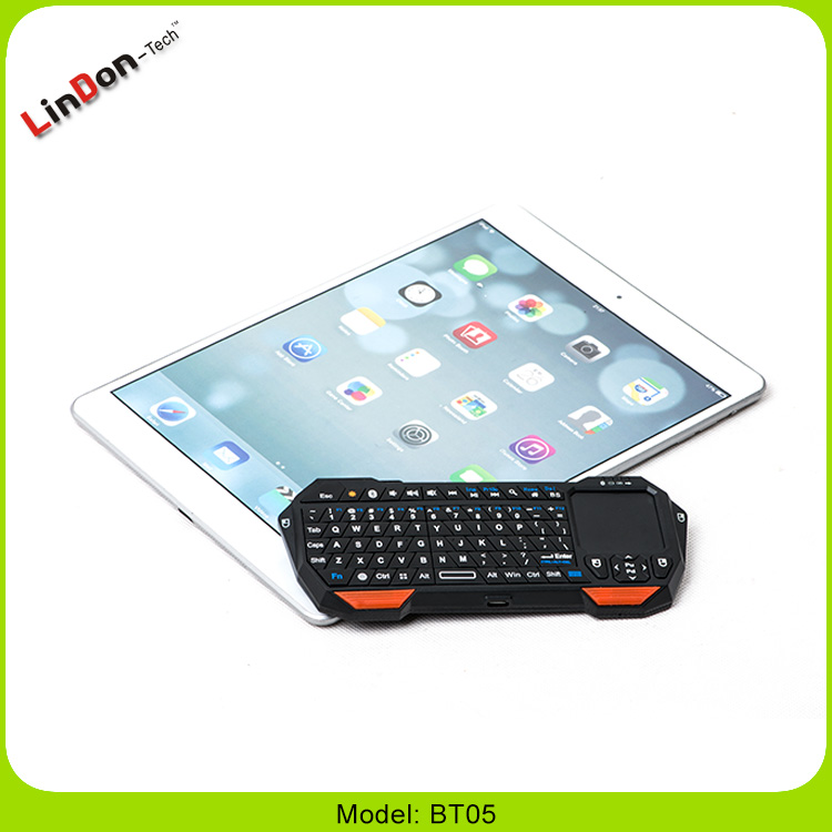 Hot sale Multimedia Bluetooth 3.0 keybord Wireless mini Keyboard Touchpad for smartphone BT05