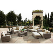 Luxury round rattan large garden use 8 seater sofa set and wicker outdoor <strong>furniture</strong>