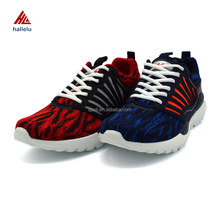 Summer Season Breathable Flyknit Lace Up Sport Shoes For Men Hi-rebound EVA Light Outsole Athletic Tennis Shoes Zapatillas