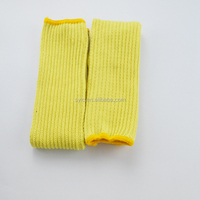High quality hand safety sleeve cut resistant arm sleeve yellow color.