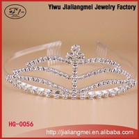 Beauty Miss World Tiara With Fashion Design Hot Sale Rhinestone Crown