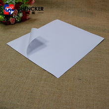 Cheap custom semi glossy woodfree self adhesive sticker paper in sheets