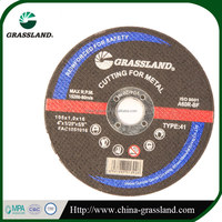 "4"" 100x6x16 mm GRASSLAND grinding disc for metal with MPA ,EN12413 and ISO 9001"