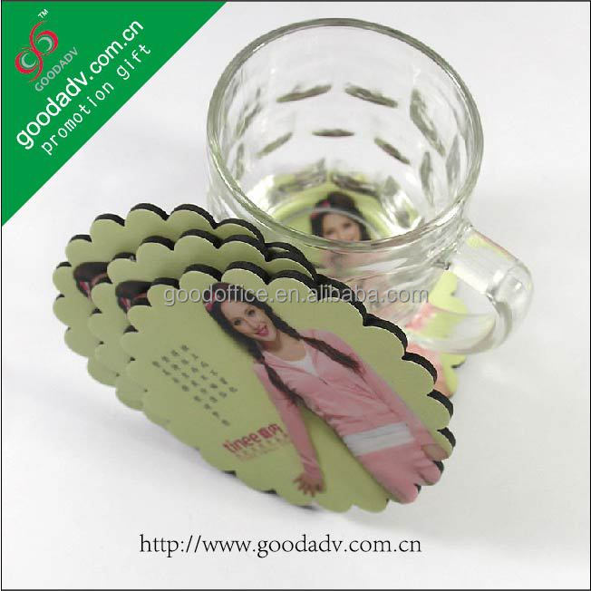 Home decoration accessories High quality round shape plastic photo coasters