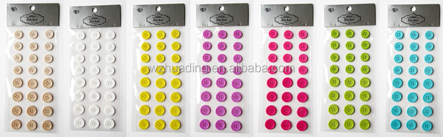 custom self adhesive diy plastic button sticker for clothes can custom logo