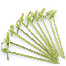 disposable decorative bamboo knot appetizer pick/bamboo food picks