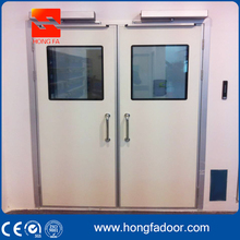 Double Stainless Steel leaf Swing Hospital Interior Doors