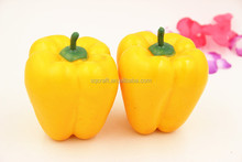 Artificial Bell Pepper Yellow--Plastic decorative vegetables fake/Yiwu Sanqi Craft Factory