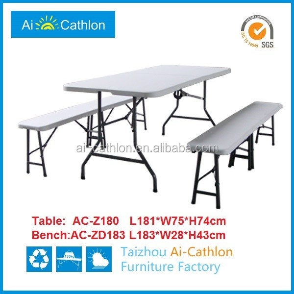 6 FT HDPE Hotel Party Plastic Folding Table And Chairs Set By Fast Supplier
