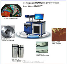 yag laser marking machine for carbon steel/card/shoe/medical apparatus/cylinder mark