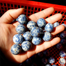 19mm blue-vein stone balls for jewelry,cute blue vein stone polished crystal spheres