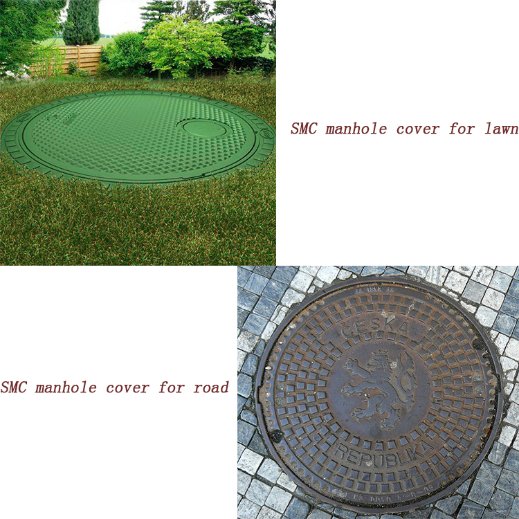 quality bmc manhole cover with grp sealing plate