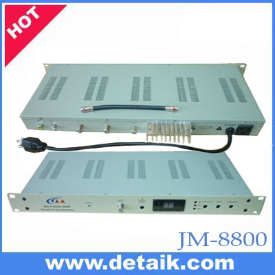 JM-8800 Agile Adjacent CATV Modulator / SAW Filtered TV Headend print your brand logo and OEM