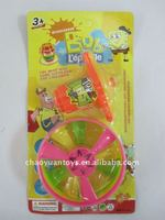Wind up colorful handle with 3 wind spinner SP74112833-6