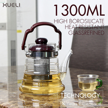 Hot Selling Glass Tea Pot Coffee TeaPot With Stainless Steel Infuser