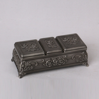 wedding decoration antique metal custom box for jewelry wholesales