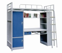 Professional Manufacturer Cheap Steel Bed With Locker For Student