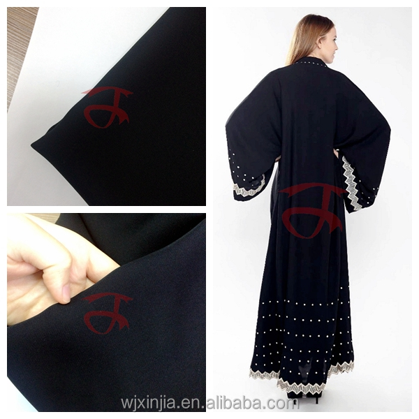 "68"" Korea black NIDA Arab Abaya fabric"
