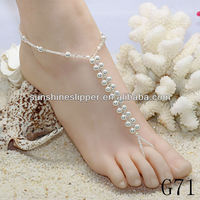 Barefoot Sandals Foot Jewelry All Pearl
