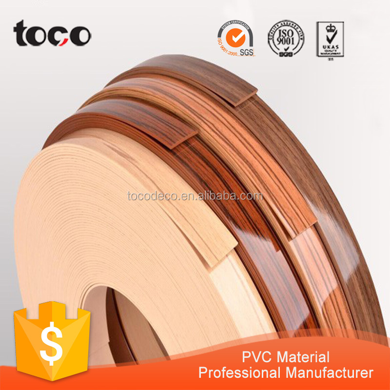 woodgrain pvc edges for furnithure/door