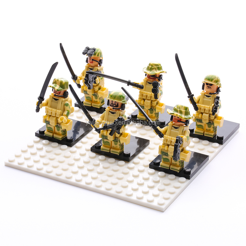 Education Building Blocks Military Minifigures Set 100% Compatible with LEGOS