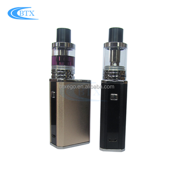 Best selling e-cig products 50w box mod 2ml atomizer huge vapor box mod e-cig