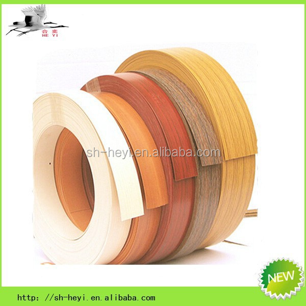 good quality furniture accessory wood grain pvc edge