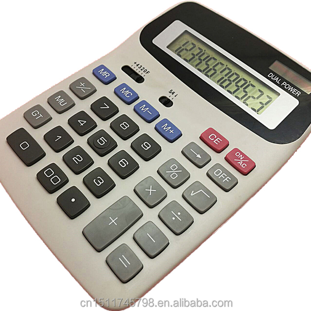 desktop large button big display 12 digits financial calculator solar