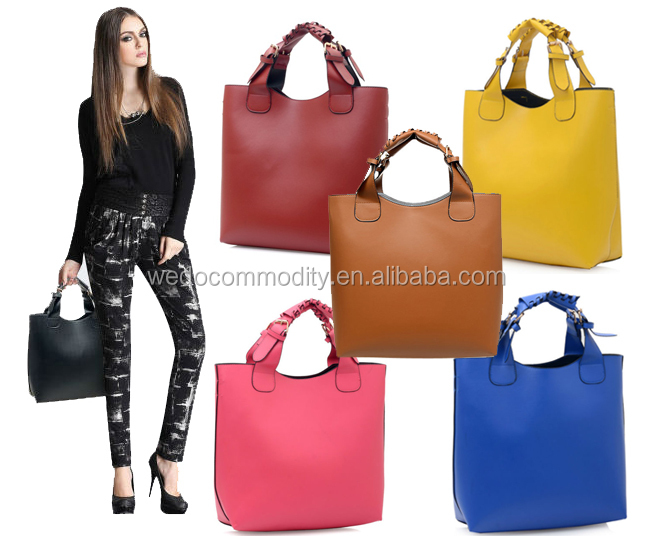 stock bags wholesale lady fashion quality brand handbags no moq