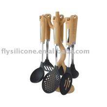 S/S Body Wood Handle Silicone Kitchen Ware
