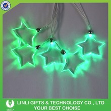 Star Shape Fashion Led Necklace,Led Light Necklace,Led Christmas Light Necklace