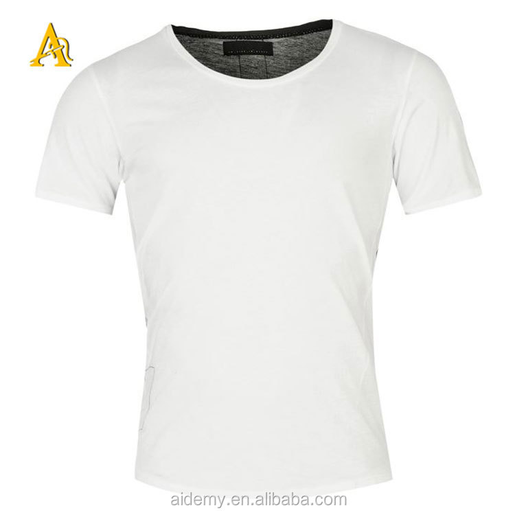 High Quality Wholesale Mens 100 Cotton Plain White T