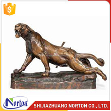 Wild animal bronze panther statue for sale NTBH-016LI