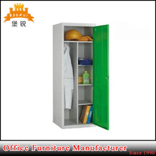 Fashionable design multifunction steel bedroom dressing wardrobe cupboard with two doors
