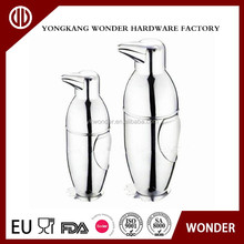 cute penguin stainless steel mini bacardi cocktail shaker