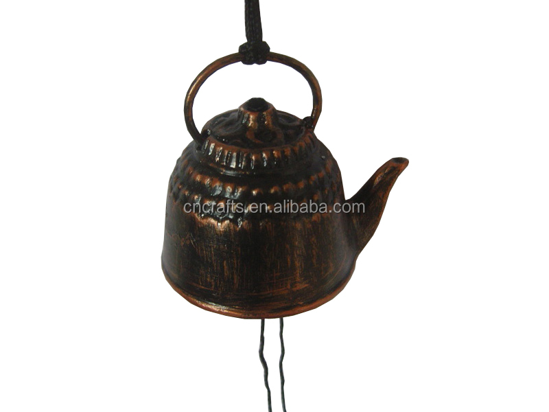 The Teapot Wind Chime Japanese Nambu Cast Iron/antique brass