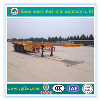Jingyanggang Brand Customized Container Transportation Semi Truck Trailer Frame Container Chassis for sale