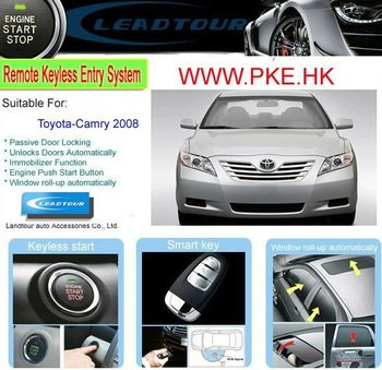 camry keyless entry push button remote start with rfid car security