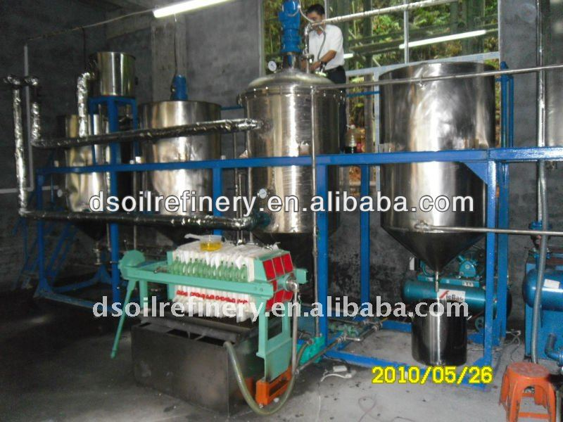 1-100t hot selling rice bran crude oil refinery equipment
