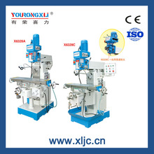 Knee type universal turret DRO milling machine