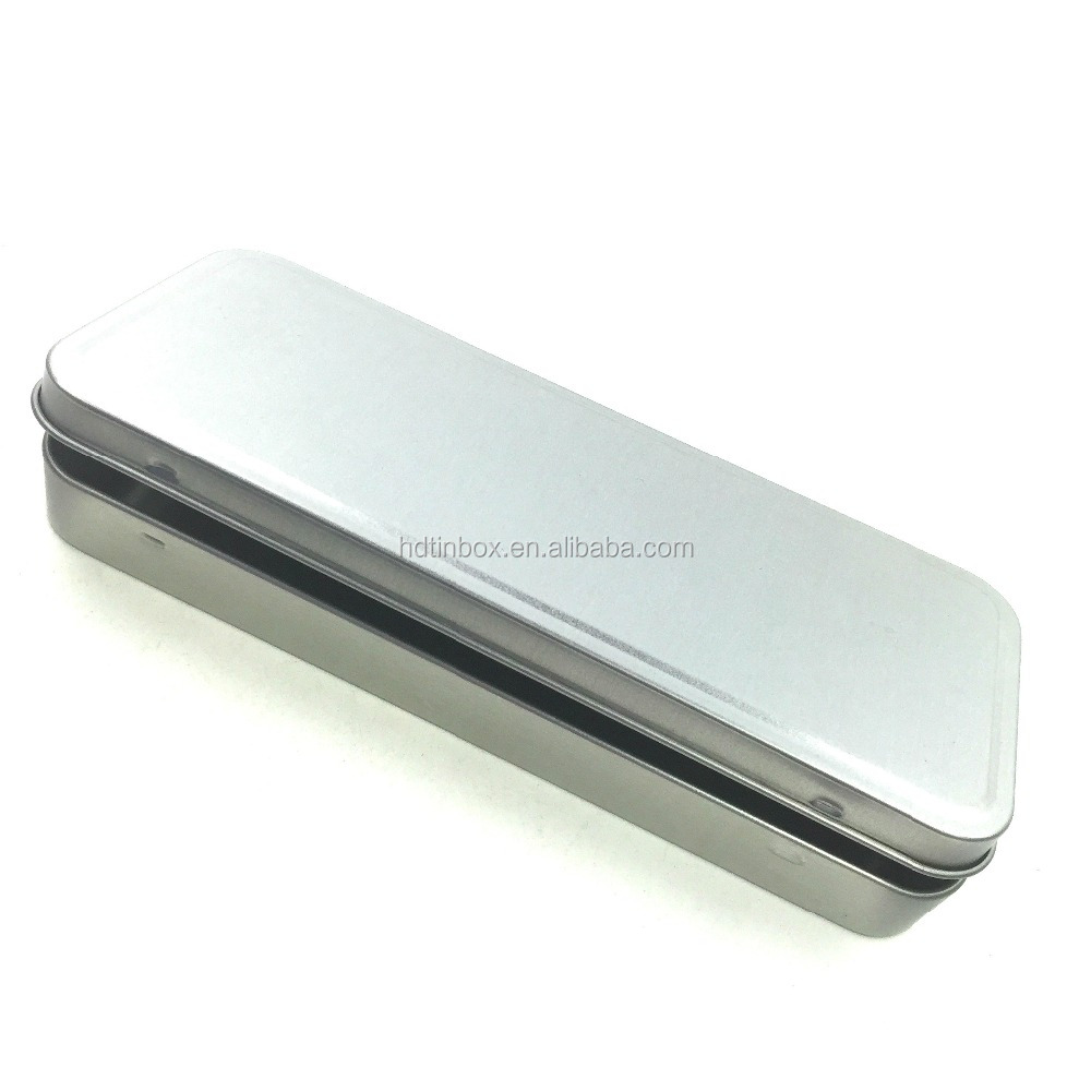 75x177x20mm Factory directly sales High quality handmade feature rectangular metal pencil tin box can, pencil case